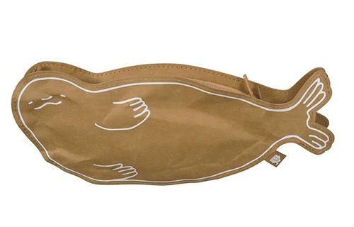 The Zoo caisse Seal27,5 cm de papier recyclé brun