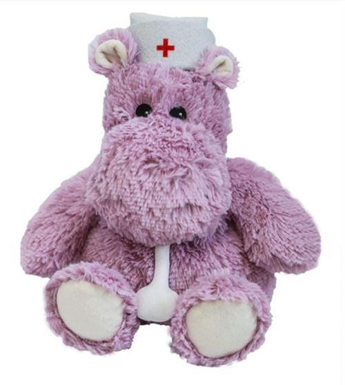 Peluche bouillotte hippopotame docteur