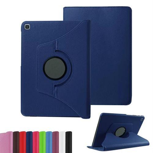 Housse pour Samsung Galaxy Tab A7 SM-T500 2020 10,4 pouces Wifi / 4G rotative bleue navy - Etui bleu coque de protection 360 degrés tablette pour New ...