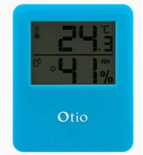 Otio thermomètre/hygromètre magnétique pour intérieur bleu