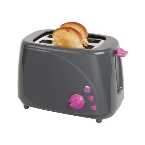 Grille-pain gris/violet 2 fentes - domoclip dod150gvi