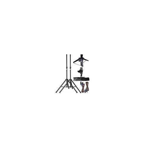 2 satellites Caisson bi-amplifi/é 800W pieds