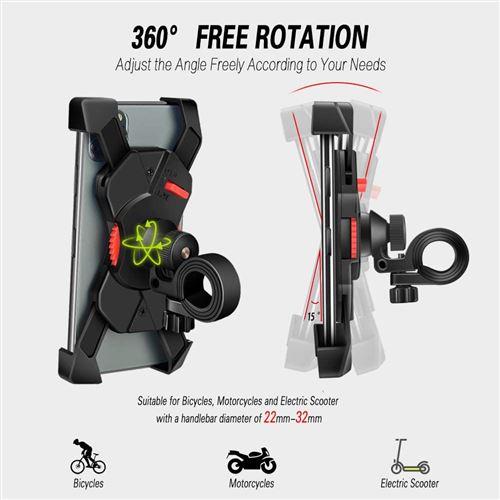 Grefay Support Téléphone Vélo Guidon de Vélo Moto Berceau Collier avec Rotation
