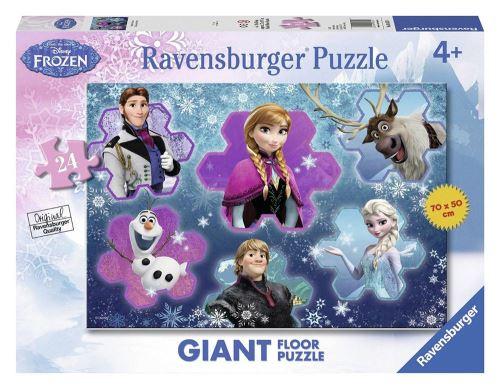 La Reine des Neiges Puzzle sol 70x50 24 pièces