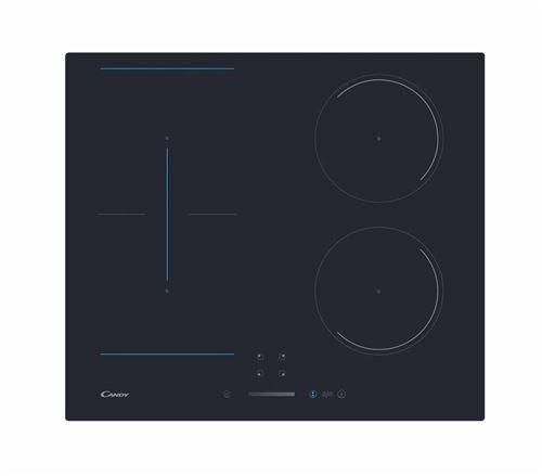 Candy CTP643SC - Table de cuisson à induction - 4 plaques de cuisson - Niche - largeur : 56 cm - profondeur : 49 cm - noir - noir