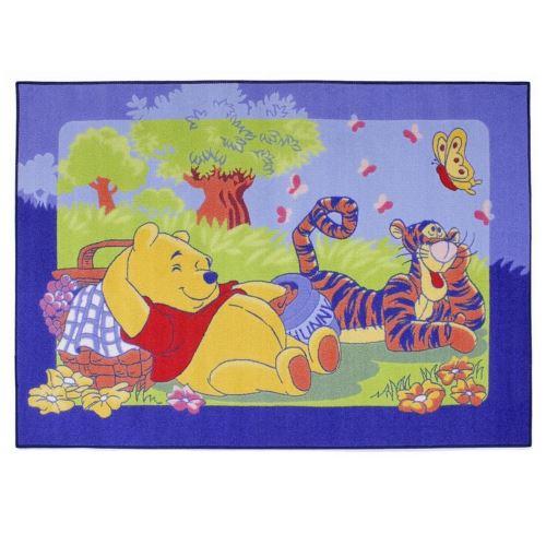 Tapis enfant Winnie l'Ourson 133 x 95 cm Disney Picnic