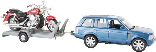 Voiture Miniature Avec Remorque Pour Moto