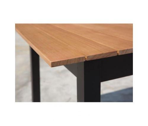 Ensemble mobilier de jardin 6 places - 1 table avec plateau ...
