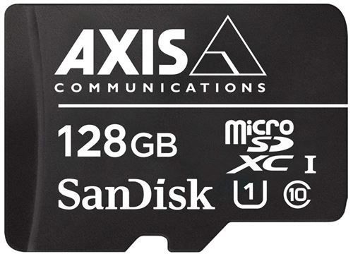 Axis 01491-001 128Go MicroSDXC Classe 10 mémoire Flash - Mémoires Flash (128 Go, MicroSDXC, Classe 10, 80 Mo/s, Noir, Blanc)