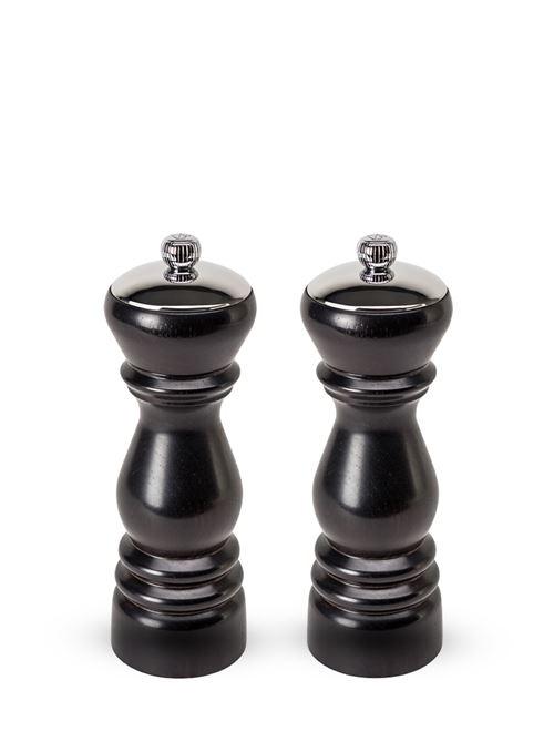 Peugeot - Duo de moulins à poivre et à sel manuels en bois d'ébène 18 cm