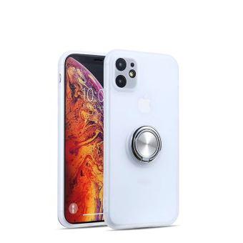 Coque de protection antichoc avec support rond pour Apple iPhone 6 6s Plus Blanc