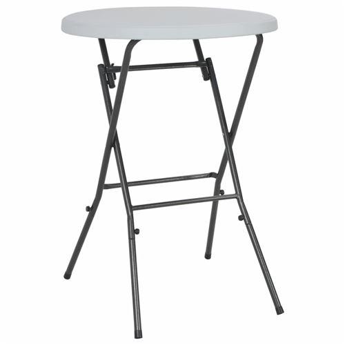 chunhe Table de bar pliante Blanc 80 x 110 cm PEHD AB44560