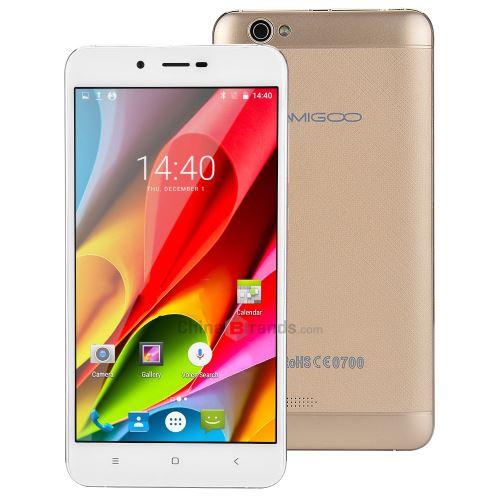 AMIGOO X15 3G Phablet 55 pouces MTK6580 Quad Core 13 GHz 1 Go de RAM 8 Go ROM Champagne