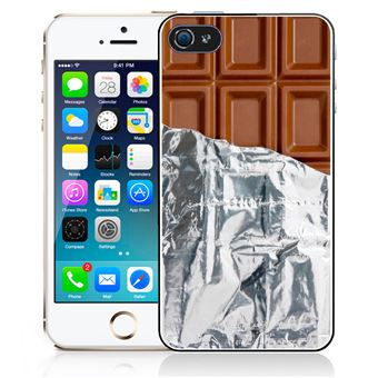 Coque pour iPhone SE tablette chocolat alu