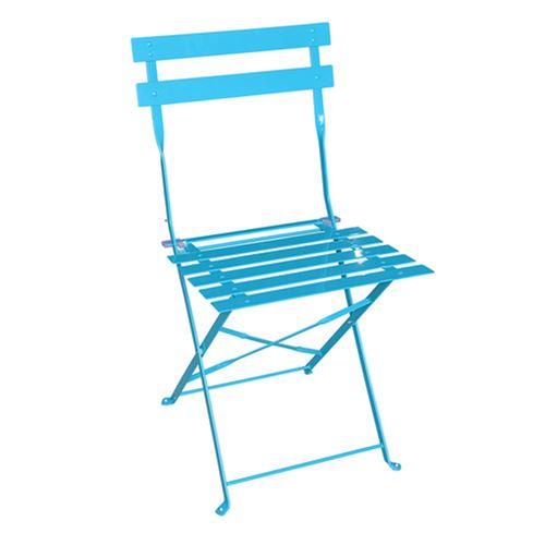 Chaise de jardin pliante brillante Camargue - Bleu lagon