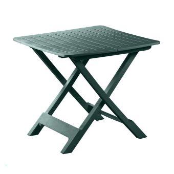 Table Pliante En Resine Verte Tev050ve Mobilier De Jardin
