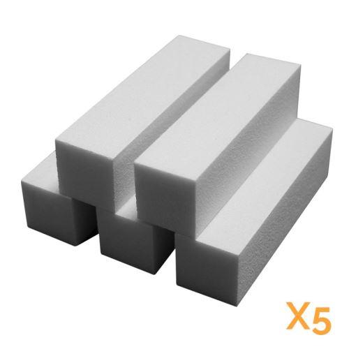 Lot de 5 blocs polissoirs 4 faces 120/120 - Blanc