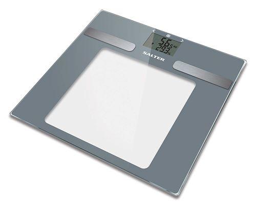 Balances de salle de bains avec analyseur de tableau de bord Salter, mesure du poids IMC, masse musculaire, 10 utilisateurs, mode athlète, design élancé, verre robuste , facile à lire