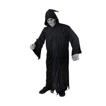 obtenir de nouveaux très loué moins cher Déguisement de la Mort Halloween - Y Compris: Une Cape Noir a Capuche -  Idéal pour Halloween - Taille Xlarge