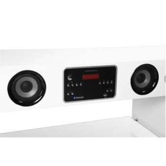 Meuble Tv Home Cinema Integre Watts Ii Bluetooth Blanc Meuble Tv Achat Prix Fnac
