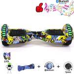 """Hoverboard 6,5"""" Hip Pop LED's met Bluetooth draagtas en afstandsbediening"""