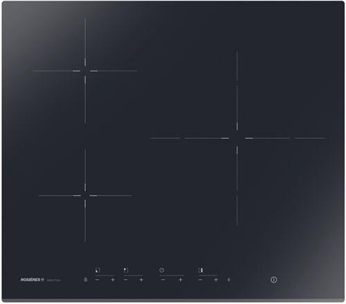 Rosières RID33 - Table de cuisson à induction - 3 plaques de cuisson - Niche - largeur : 56 cm - profondeur : 49 cm - noir - avec avant biseauté