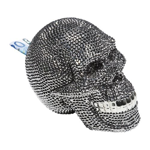 Tirelire Skull Crystal argentée Kare Design