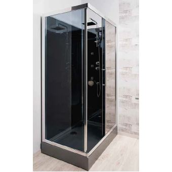 cabine de douche hydro 80 x 120 cm sankai acc s d 39 angle. Black Bedroom Furniture Sets. Home Design Ideas
