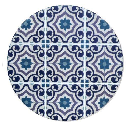 Sous plat en Céramique et Liège carreaux de ciment 18 cm