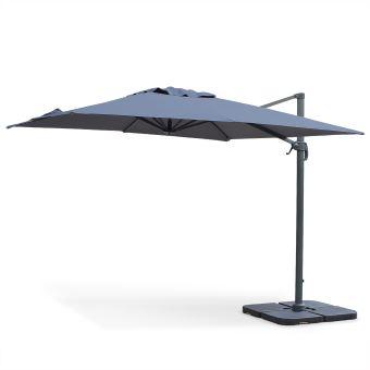 15 sur parasol d port falgos carr 3x3m haut de gamme alice 39 s garden mobilier de jardin. Black Bedroom Furniture Sets. Home Design Ideas