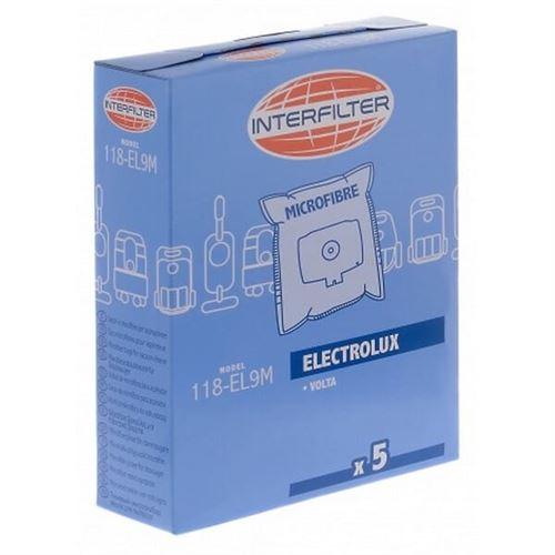 Sacs aspirateur par 5 microfibre pour Aspirateur Electrolux
