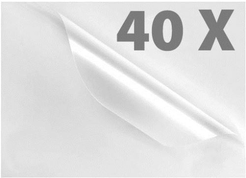 40 Pochettes de plastification - A4 / 80 Mic