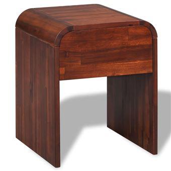 Table D'acacia De Vidaxl 42 X Achat En Marron 5 Chevet Bois Cm 41 8nNv0mwO