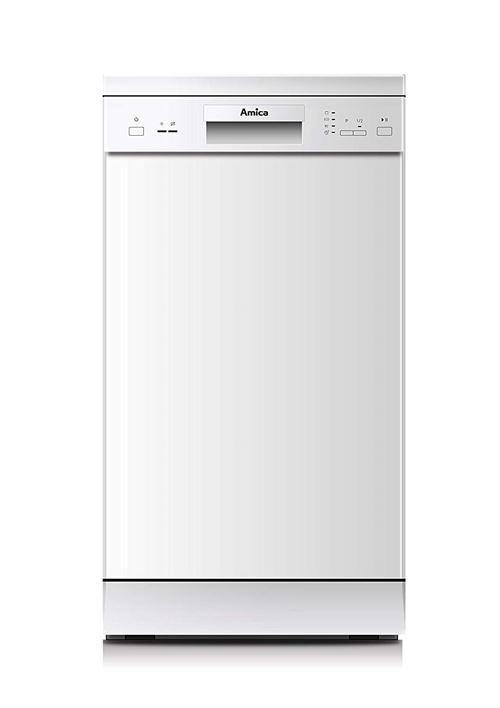 Amica GSP 14742 W Autonome 9places A+ lave-vaisselle - Lave-vaisselles (Autonome, Acier inoxydable, Compact (45 cm), Tactil, LED, 1,5 m)