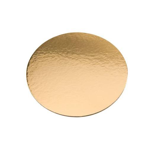 5 cercles dessous de gâteau 28cm or