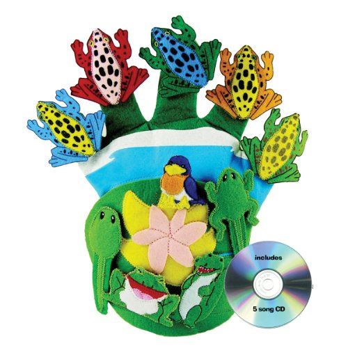 Get Ready Kids Glove Puppet Set Wide Mouth Bullfrog and Friends
