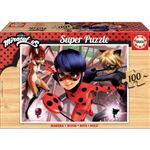 LadyBug Miraculous Puzzle en bois 100 pièces