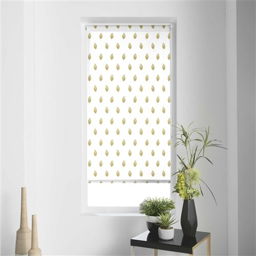 Store tamisant imp. metallique 60 x 90 cm polyester verdura Blanc