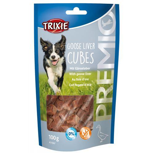 Friandise au foie d'oie et oie, 100 g. PREMIO Goose Liver Cubes, pour chien.