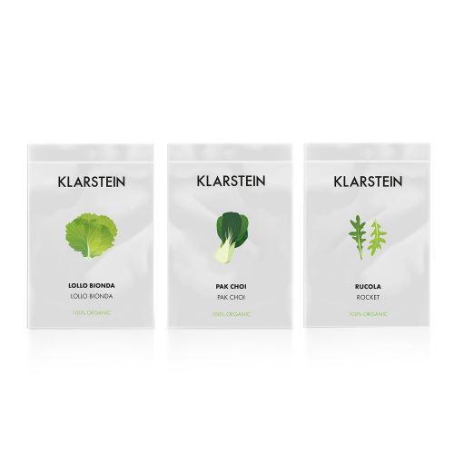 Klarstein GrowIt Seeds Salad - 3 lots de graines pour jardin hydroponique : lollo bionda / pak-choi / roquette