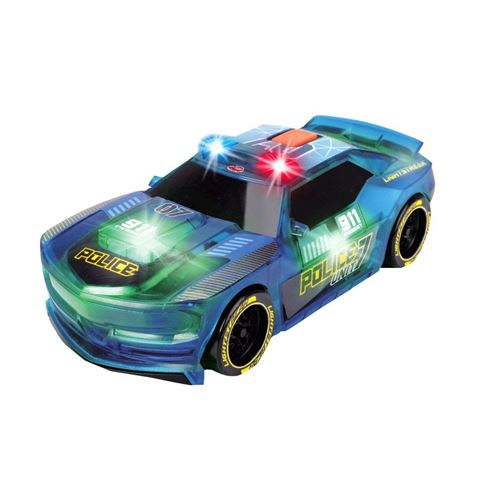 Dickie Toys Lightstreak Police Voiture de Course à Friction, 203763001