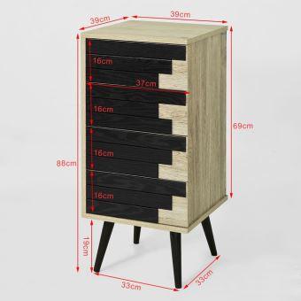 SoBuy® Commode Armoire de Rangement Meuble d\'appoint avec 4 tiroirs ...