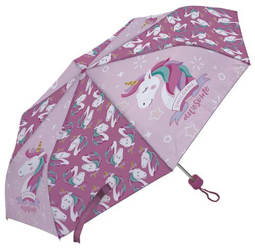 Arditex parapluie pour enfants Licorne 91 cm polyester rose foncé