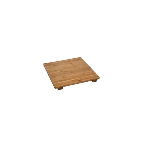 Planche À Découper Carrée Bambou Surelevé 38cm Naturel