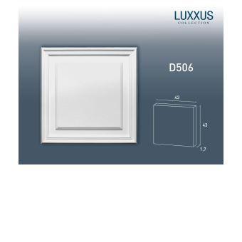 Panneau de porte aplati El/ément Orac Decor D504 LUXXUS d/écoratif avec profil pour le mur et la porte