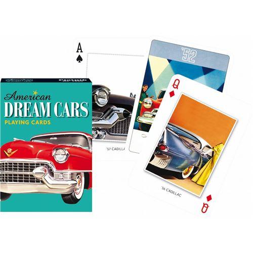 PIATNIK Jeu de 55 cartes AMERICAN DREAM CARS Multicolore