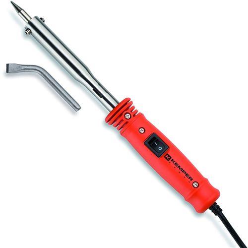 Fer à souder 50W - 230 v Professionnel kemper livré avec 2 pannes cuivre diam 5.8 mm coudée et droite.