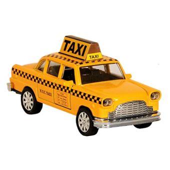 Taxi De New York Dans Une Cabine Jaune Avec Action De Recul Jouet De Taxi Moulé Sous Pression à New York Voiture Achat Prix Fnac