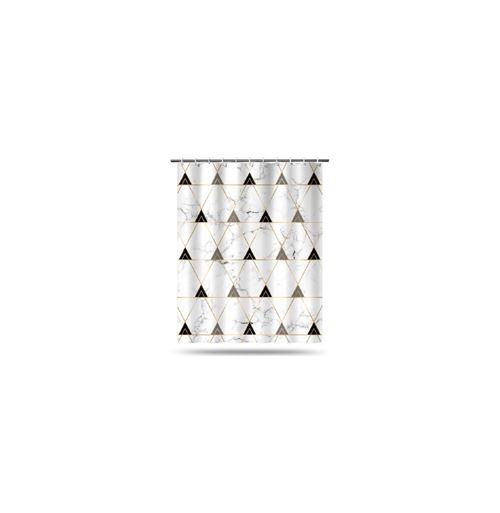 Rideau de douche - Géometrix - 180 x 200 cm