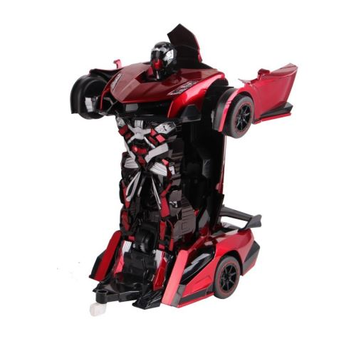 ROBOT VOITURE justice fighter rouge